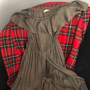 Dresses & Skirts - Olive romper dress-NEVER WORN